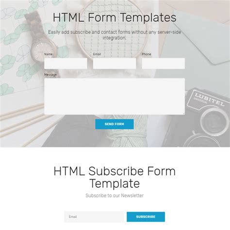 html contact form template free html bootstrap 4 form templates