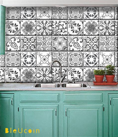 kitchen decals for backsplash portugal inspired tile stickers