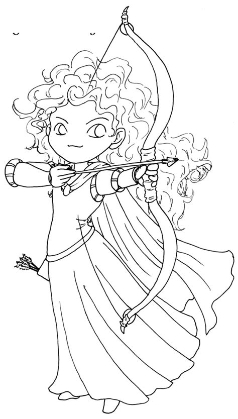 disney coloring pages merida posing of princess merida brave coloring pages merida