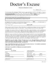 Excuse Letter Due To Anniversary Doctor Excuse For Work Using A Doctor S Excuse Form For Work