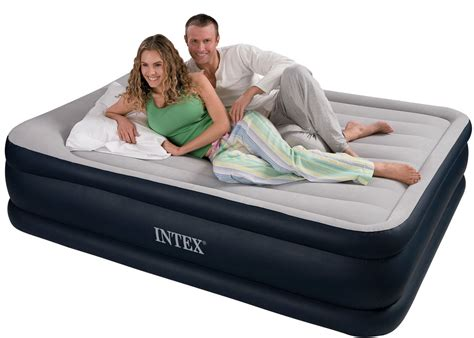 intex deluxe size comfort pillow rest raised airbed mattress air bed