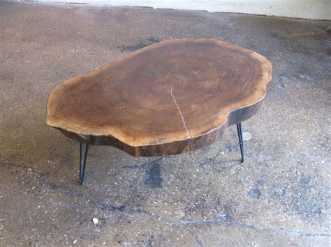 Tree Trunk Coffee Table Diy Midcentury Tree Trunk Coffee Table By Openairmodern On Etsy Design Pinterest Trees Trunks
