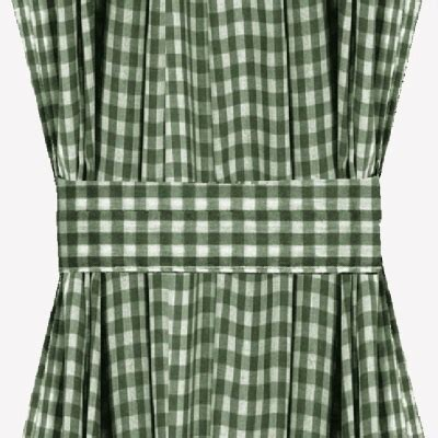 green checked curtains hunter green gingham check french door curtains