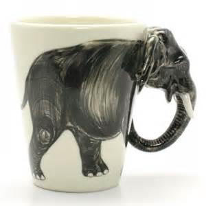 Ceramic Coffee Mugs Elephant Mug Animal Lover Handmade Ceramic Coffee Cup Art