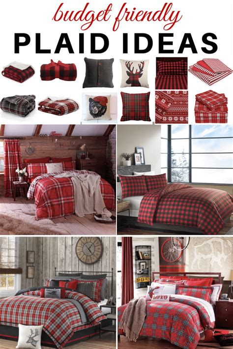 10 affordable buffalo plaid christmas decor on a budget plaid ideas bedroom refresh restyle