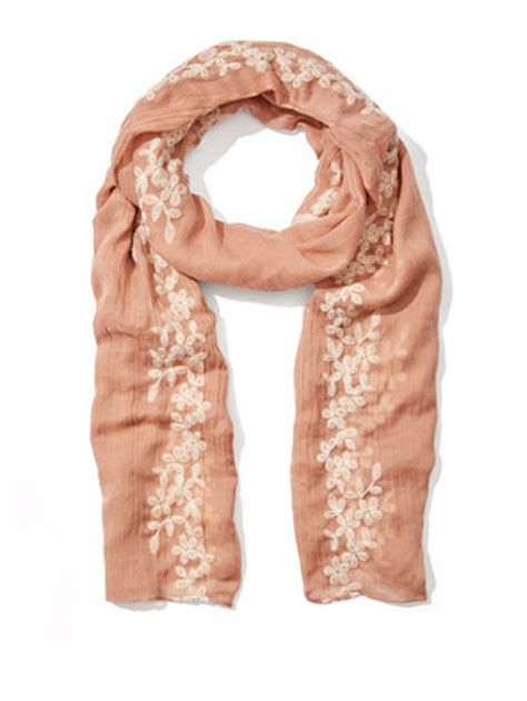 Floral Embroidered Scarf ny c floral embroidered scarf