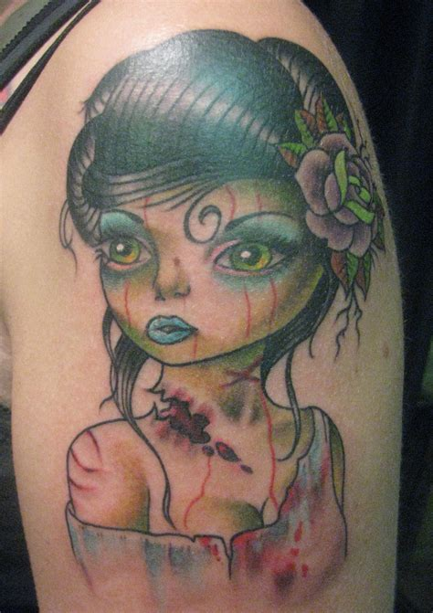 zombie pin up girl tattoos by tatu baby