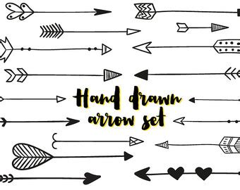 Wall Designs Stickers 35 hand drawn arrows clip art whimsical arrow doodle by