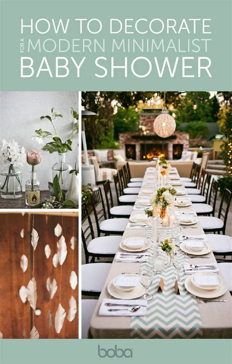 How to Throw a Modern Minimalist Baby Shower   Baby Shower