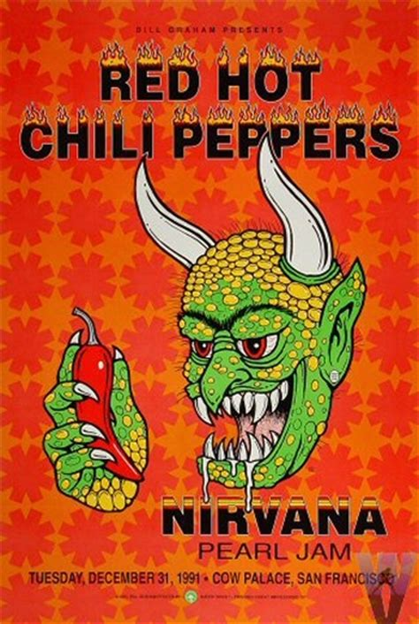 red hot chili peppers in color poster home decor gift by design inspiration 25 vintage rock posters designm ag