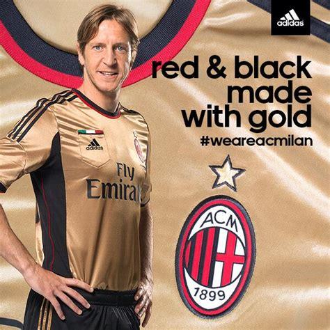 Ac Milan Gold by Milan 3rd Kit 2013 2014 171 Football Marketing Xi