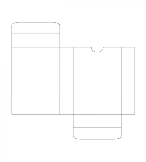 templates for card 20 card box templates free sle exle