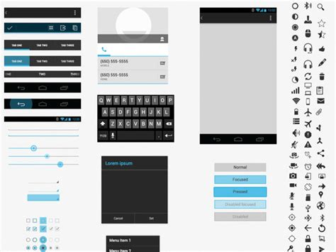 android visio stencil free android gui wireframe templates 2014