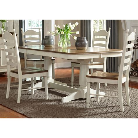 liberty furniture dining table liberty furniture springfield dining pedestal table