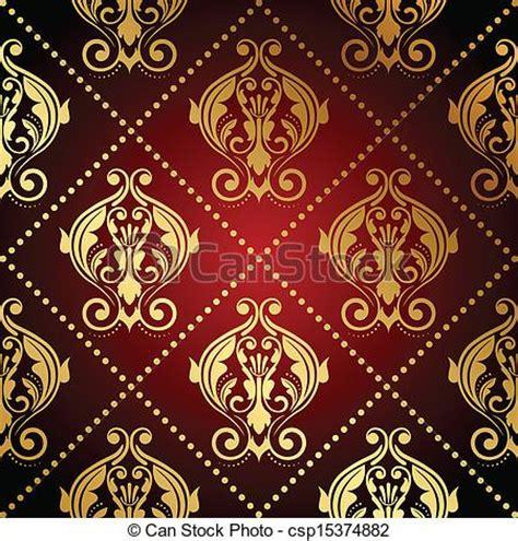 Fushia Rug Vektor R 246 D Guld Utsirad Tapet Stock Illustration