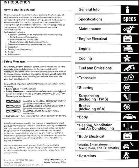 car repair manuals download 2006 honda odyssey security system 2005 2006 honda odyssey repair shop manual original