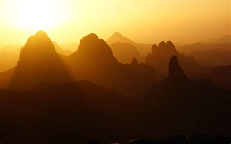 wallpaper sunrise hoggar mountains ahaggar national park