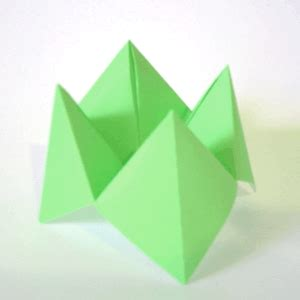 Folded Fortune Teller Origami - beautifully contained fortune teller paper lantern