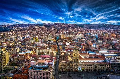 L A la paz city in bolivia thousand wonders