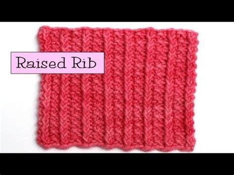 how to take out a row of knitting fancy stitch combos raised rib