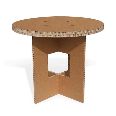 tavolo di cartone tavolo in cartone tondo avana