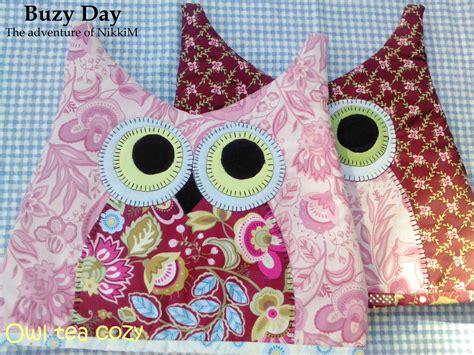 pattern for a fabric tea cosy owl tea cozy buzy day