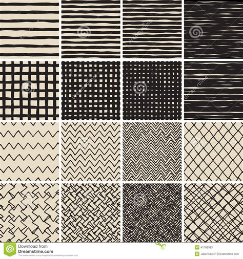 basic doodle seamless pattern set no 8 in black and white basic doodle seamless pattern set no 2 in black and white