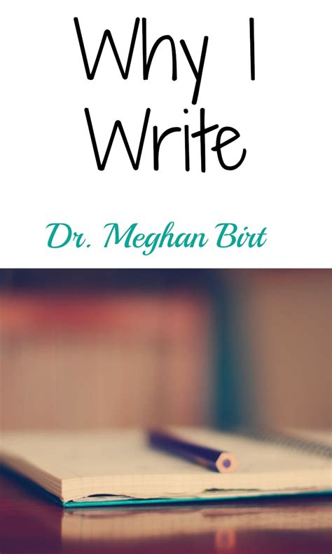 why i write meghan birt