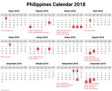 printable monthly calendar 2018 philippines calendar 2018 philippines with holidays free download