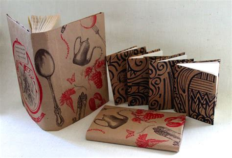 Book Covers Out Of Paper Bags - grocery bag book cover playful bookbinding and paper works