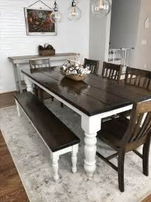 Bench Dining Room Tables Best 25 Farmhouse Table Ideas On Farmhouse Dining Room Table Diy Table And Diy