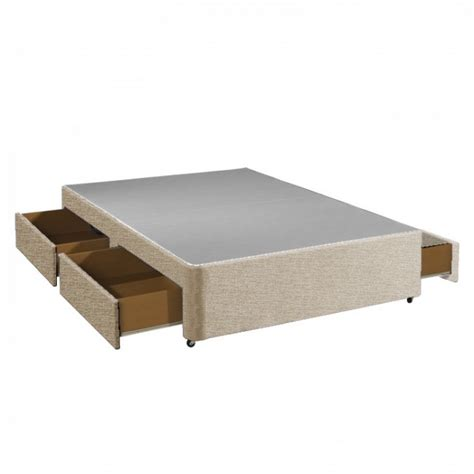 Divan Base With Drawers by Apollo 4ft6 Beige 4 Drawer Divan Base