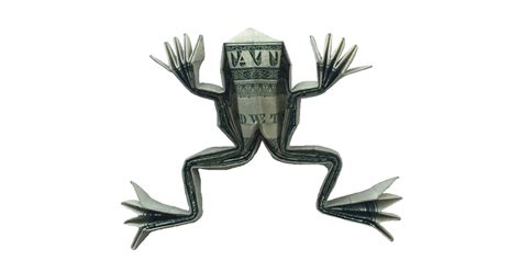 Frog Money Origami Animal Reptile Made Of Real Dollar Bills - a money origami frog not bad for a dollar origami