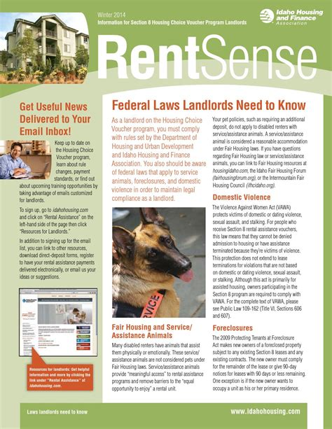 idaho housing and finance rentsense for landlords winter 2014 by idaho housing and finance association issuu