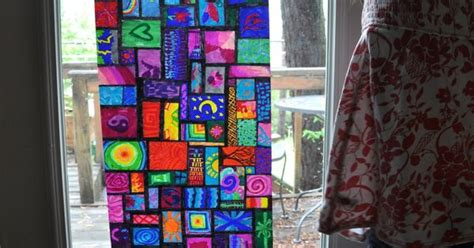How To Make Stained Glass With Wax Paper - sharpie on wax paper instant stained glass windows