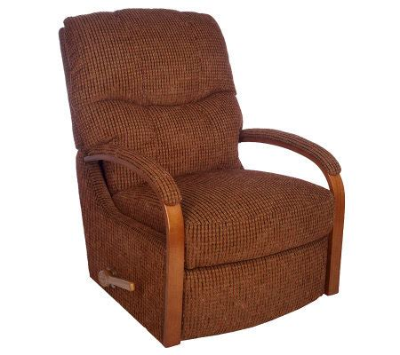 wood arm recliner la z boy chenille rocker recliner with wood arm detail
