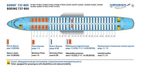 seating plan aeroflot