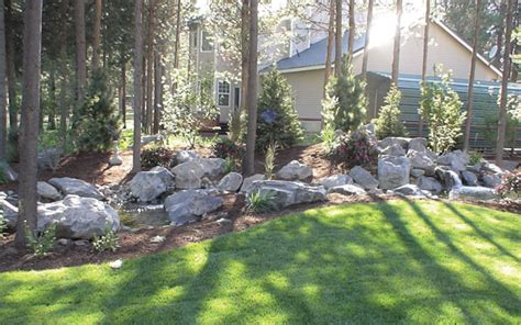 Landscape Ideas Shaded Areas Shady Garden With Water Feature Images Frompo