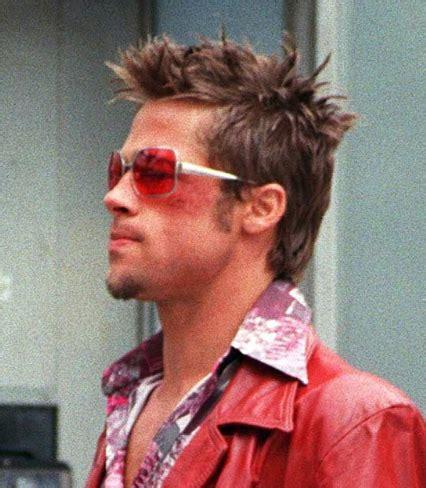 tyler durden haircut brad pitt fight club glasses hollywood star photos