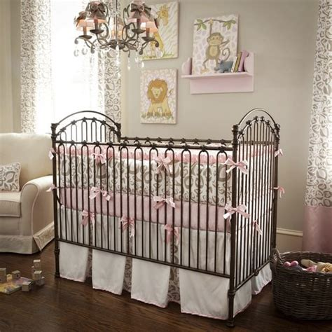 Pink Cheetah Crib Bedding Pink And Taupe Leopard Crib Bedding Collection By Carousel Designs Traditional