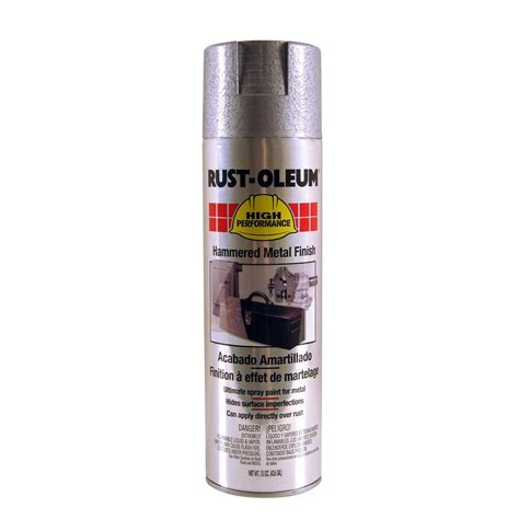 shop rust oleum high performance silver hammered enamel spray paint actual net contents 15 oz