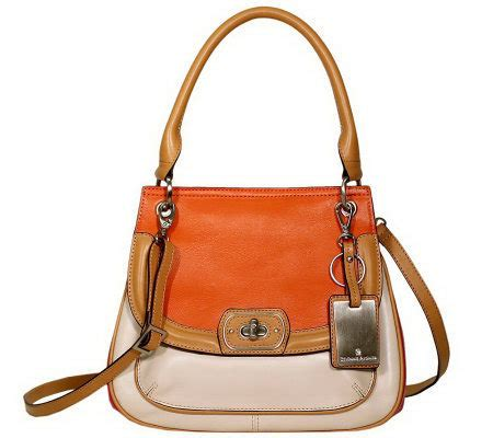 Aigner Cynthia 001 Leather etienne aigner leather valencia color block tophandle satchel page 1 qvc
