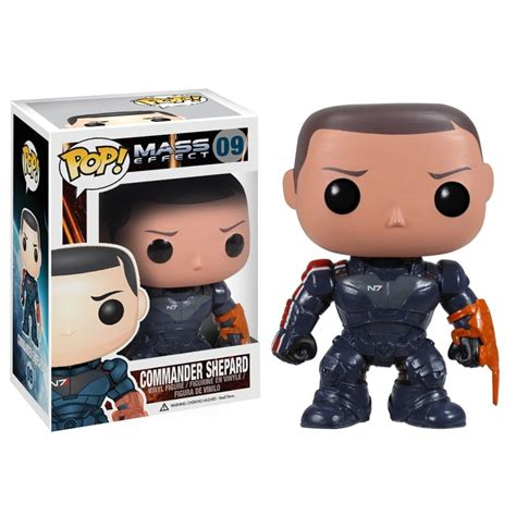 figurine pop commandant shepard mass effect funko pop