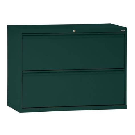 Sandusky 800 Series 36 In W 2 Drawer Full Pull Lateral 36 Lateral File Cabinet