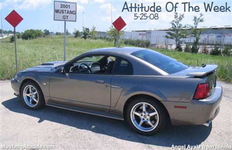 2001 mustang coupe mineral gray 2001 ford mustang gt coupe mustangattitude