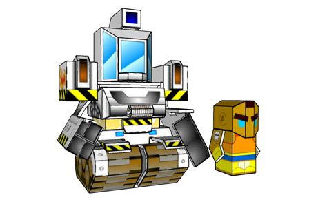 Sketchup Papercraft - battleroller dozer and chuck minis sketchup by wulongti