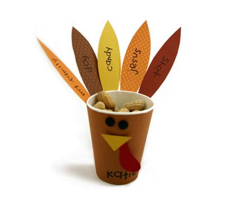 Paper Cup Turkey Craft - so happy together cheer day 7