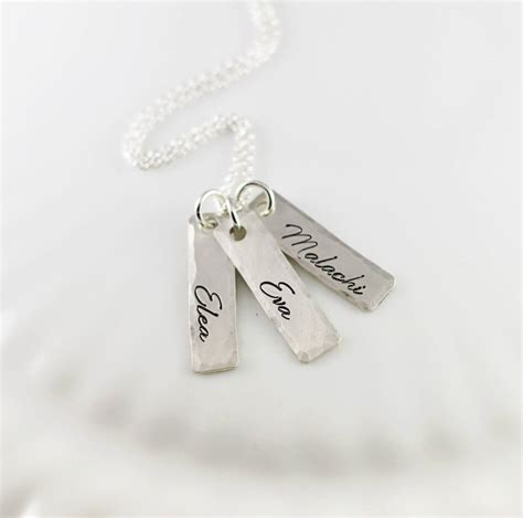 custom tag necklace necklace custom tags children gift silver
