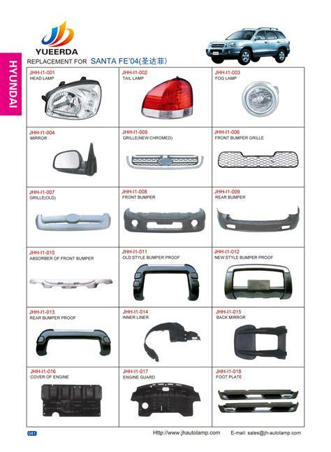 Hyundai Auto Parts by Hyundai Santa Fe Parts Catalog Hyundai Auto Parts