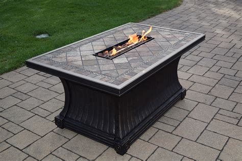 Oakland Living 52 X 32 X 24 Inch Rectangular Slate Topped Gas Pit Cover